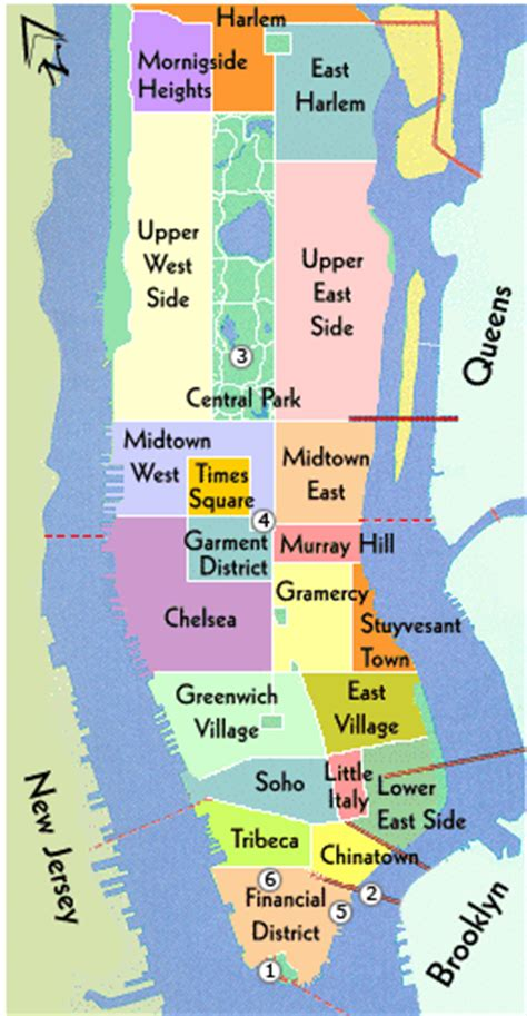 sections of new york city new york neighborhood map