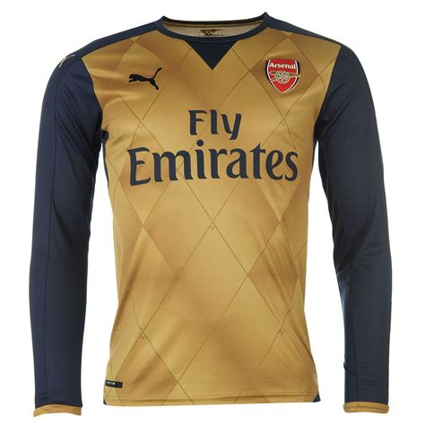 T Shirt Casual Arsenal mens arsenal away 2015 2016 sleeve football t shirt jersey top