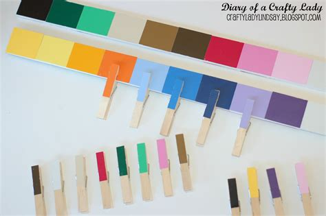 matching paint diary of a crafty lady paint stick paint chip color