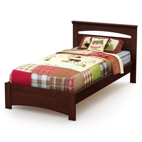 cherry twin bed south shore sweet morning twin bed in royal cherry 3246189