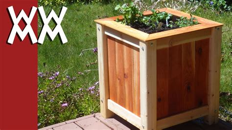 backyard garden box design build an easy inexpensive wood planter box youtube