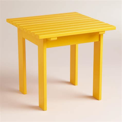 Yellow Side Table Golden Rod Yellow Classic Adirondack Side Table World Market