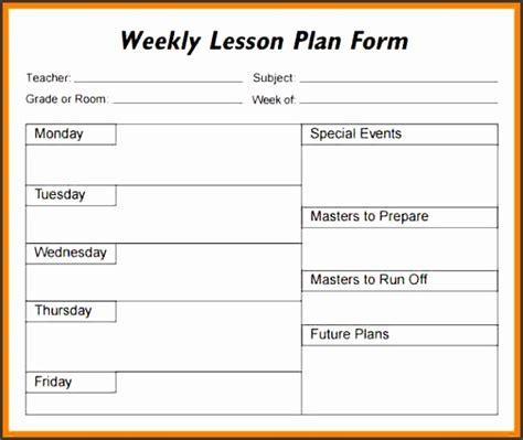 5 academic lesson plan template sletemplatess