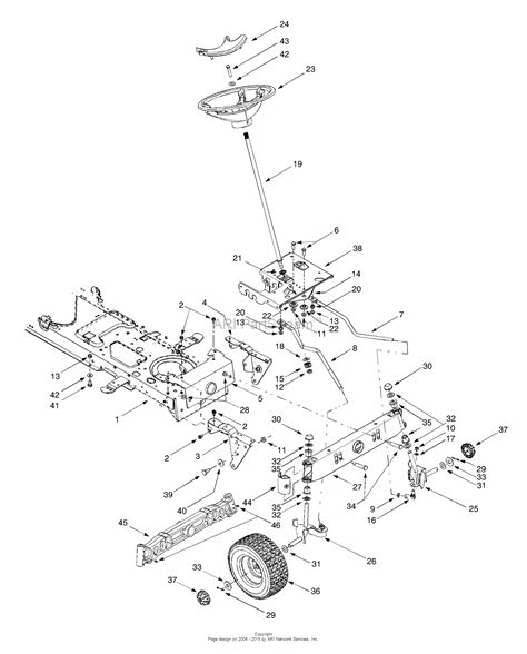 steering parts diagram mtd 13ad604g401 2000 parts diagram for axle front