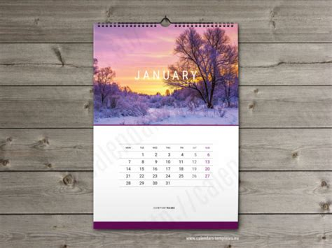 2019 Calendars And Planners Templates Yearly Monthly Weekly Calendar Free Indesign Calendar Template 2018
