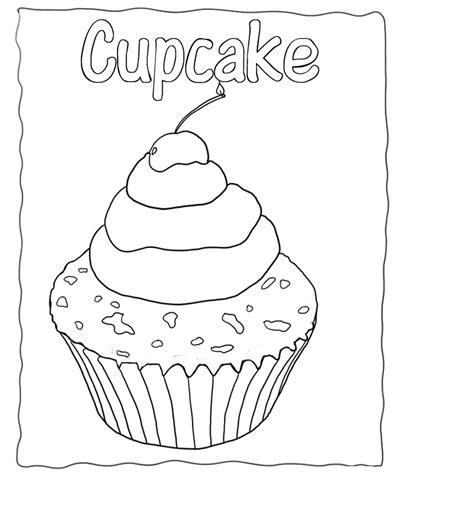 Cupcake Coloring Pages To Print by Free Printable Cupcake Coloring Pages For
