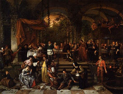 Wedding At Cana Matthew by Wedding Feast At Cana C 1670 1672 Jan Steen Wikiart Org