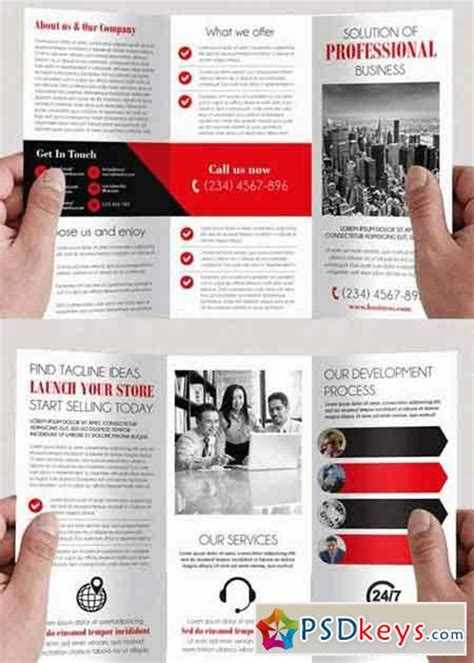 simple tri fold brochure template simple v4 tri fold psd brochure template 187 free