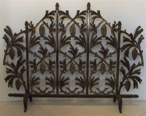 cast iron pine cone fireplace screen at 1stdibs