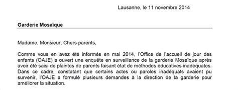 Lettre De Recommandation Garderie Enfance Une Garderie De L Etat De Vaud Sous Surveillance Vaud R 233 Gions 24heures Ch