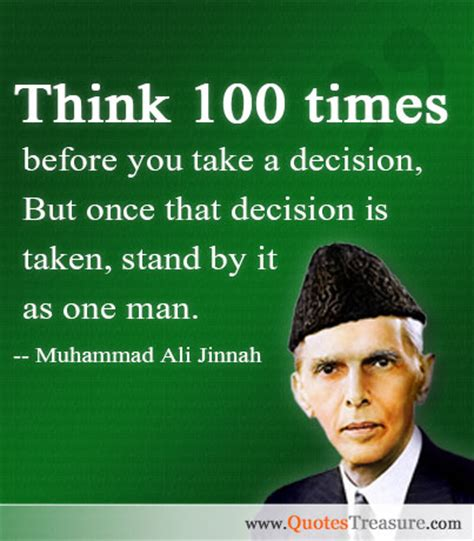 muhammad ali jinnah education biography think 100 times before you take a decision but once that