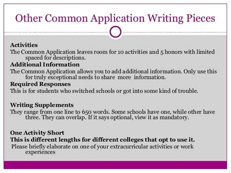 Common App Extracurricular Essay by Common App Extracurricular Essay Sles
