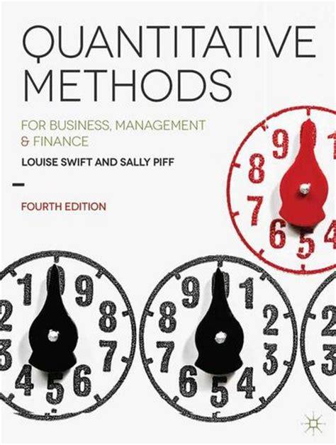Mba Vs Quantitative Finance by Quantitative Methods Louise Sally Piff Palgrave