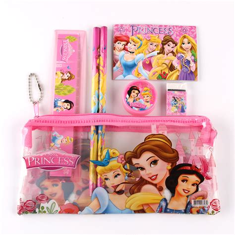 Pencil Set Princess 1 set princess pencil for sticker estojo escolar pencil cases school