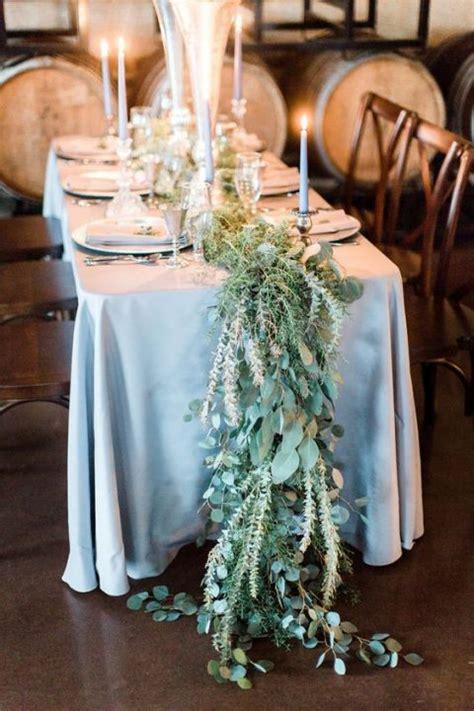 slate blue table runner 27 winter wedding table runners happywedd com