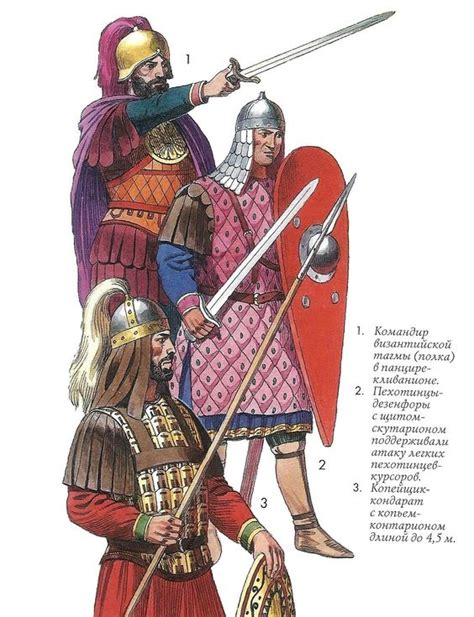 byzantine army uniforms byzantines pinterest