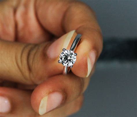 1 Carat Engagement Ring by 1 Carat G Vvs2 Certified Four Prong Solitaire