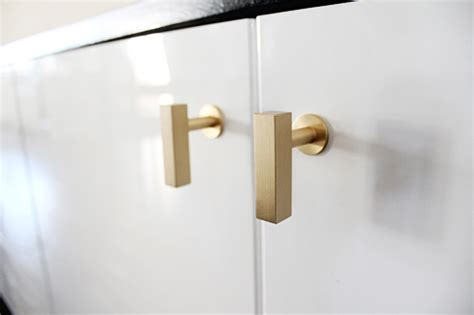 brushed brass cabinet pulls stylish home door knobs and handles