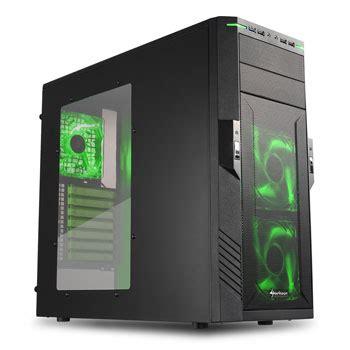Sharkoon Dg7000 Green Acrylic Windowed Atx Mid Tower Gaming sharkoon t28 black green mid tower ln42913 t28