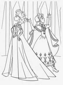 free elsa anna coloring pages
