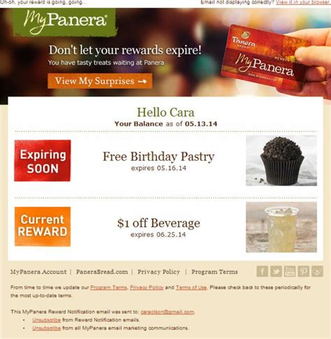 Panera Gift Card Expiration - 1000 images about rewards emails on pinterest land s end loyalty and email newsletters