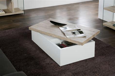 table blanc et bois table basse bois clair et blanc ezooq