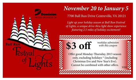 festival of lights coupons bull run festival of lights 2013 get outside pinterest