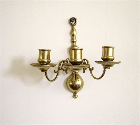 Antique Brass Wall Sconce S A L E Vintage Candle Wall Sconce Brass By Highstreetmarket