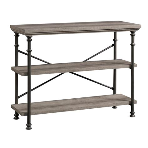 sauder canal collection northern oak console table