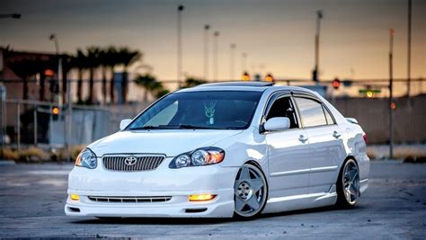 stanced toyota avalon grandma s stanced toyota corolla really stands out the crowd