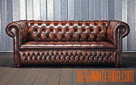 Sofa Kulit Chesterfield harga sofa chesterfield jakarta bahan kulit asli italy