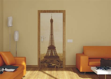 Wallsticker Uk50x70 Wall Sticker Black Eiffel door wallpaper wall mural wallpaper eiffel tower