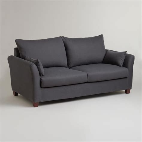 charcoal luxe sofa frame and cover world market