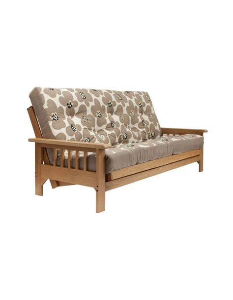oak futon bed cavendish oak 3 seat futon sofa bed uk wide delivery