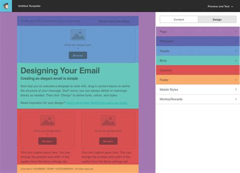 chimp mail templates tutorial for creating a custom email template in mailchimp
