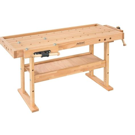 best work benches husky 46 in 9 drawer mobile workbench with solid wood top