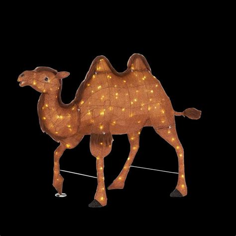 christmas camels home accents 36 in 120 light led tinsel camel ty760 1614 0 the home depot