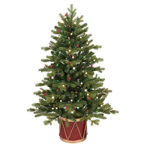 ge 4 ft pre lit colorado spruce slim artificial christmas