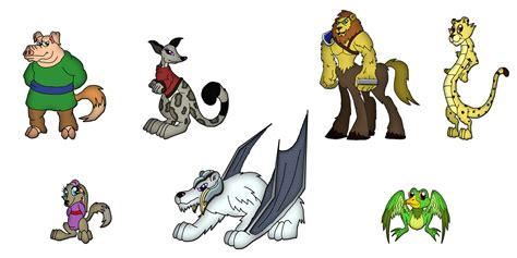 Animal Character 02 animal hybrids character lineup 2 by moheart7 on deviantart