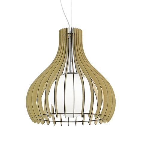 Pendant Light With Diffuser Eglo 96214 Tindori Wooden Pendant Light Glass Diffuser Maple Finish
