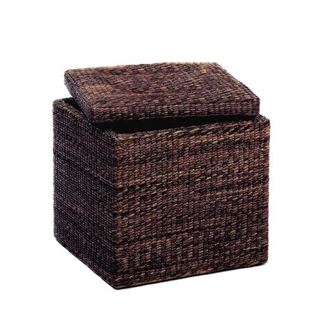 Seagrass Storage Ottoman Seagrass Ottoman Storage Fibres Export Storage Box Pinte