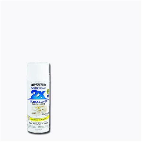 rustoleum spray paint x2 rust oleum painter s touch 2x 12 oz semi gloss white