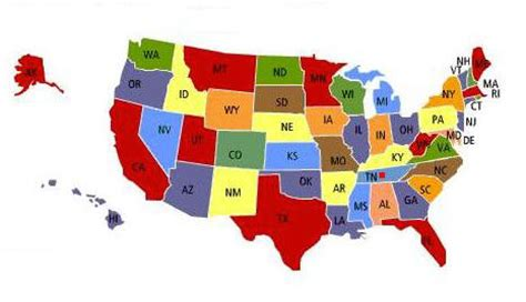 map of us states abbreviations 50 states map with abbreviations