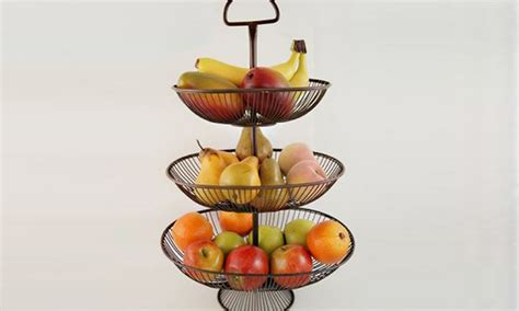 Countertop Fruit Basket by Three Tier Wire Fruit Basket Groupon Goods