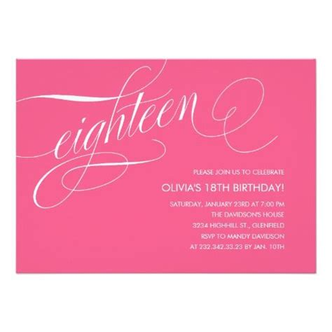 401 Best Images About 18th Birthday Party Invitations On Pinterest 18th Birthday Invitation Templates Free
