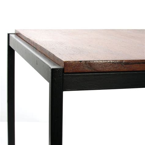 Sixties retro coffee table metal and wood   Sold   Eames, Braakman, Friso Kramer, Rietveld, Mid