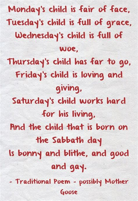 More On Monday One By Child by I M A Monday S Child What Are You And How Can You Find