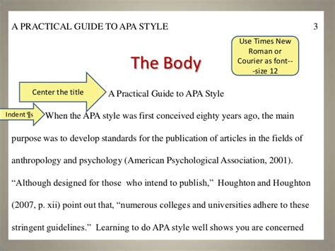 apa format body a practical guide to apa style