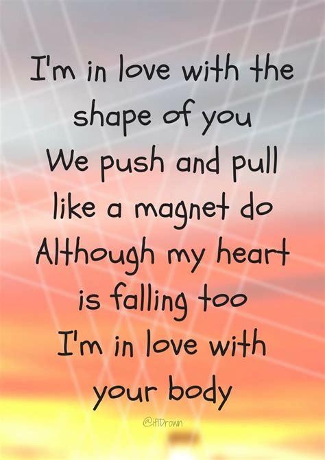 ed sheeran shape of you lyrics shape of you ed sheeran if i drown