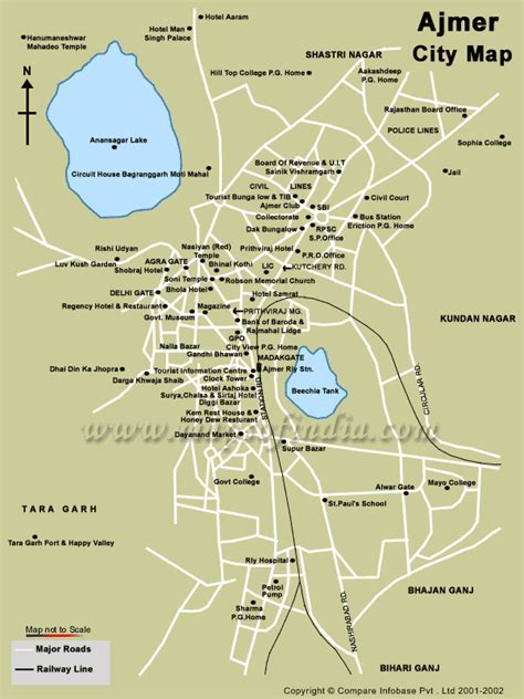 map of city of ajmer city map ajmer mappery